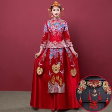3f7c58c9cda tv6m 룩 의류 복장 옷 가먼트 편한옷 신부 수화 중국식 슬림 체형커버 여성